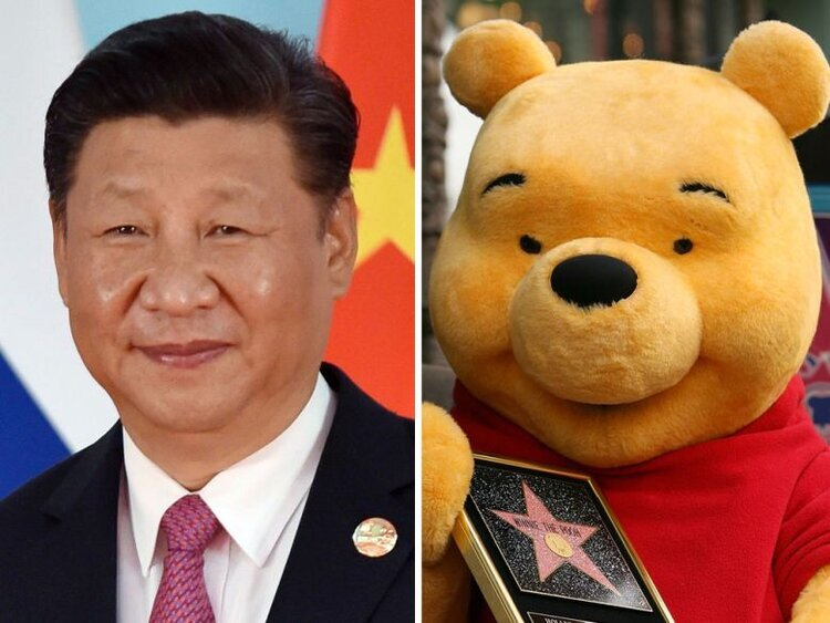 The yellow bear became, for many in China, a symbol of rebellion
