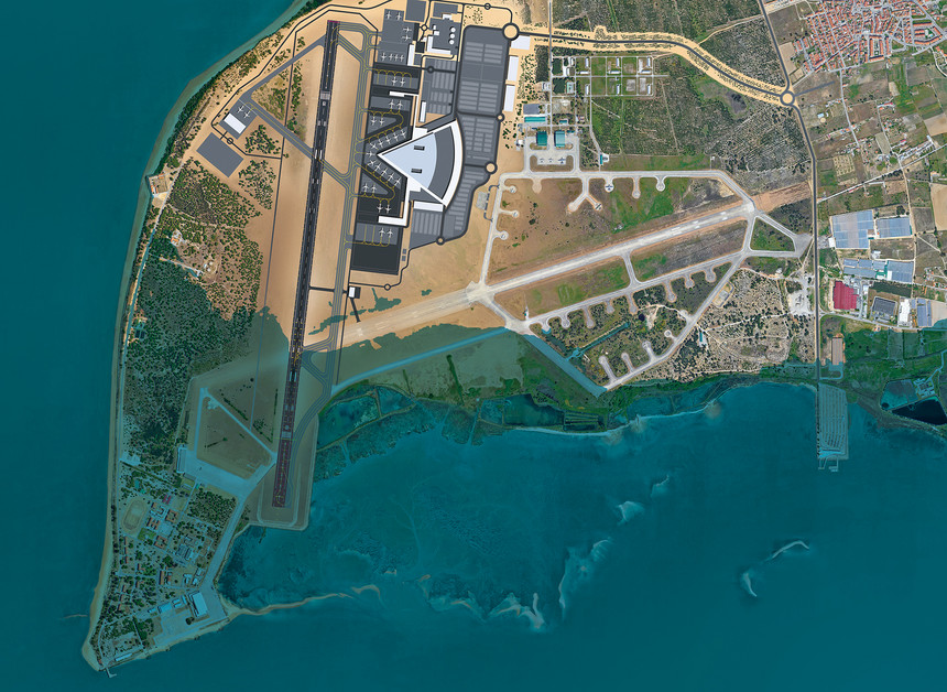 Image 2: How rising sea levels are expected to affect the new airport