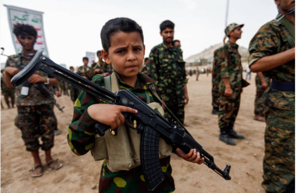 Yemen's Houthi rebel group has recruited more than 30,000 child soldiers