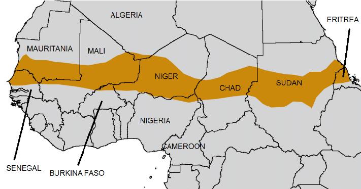 Map of the Sahel region