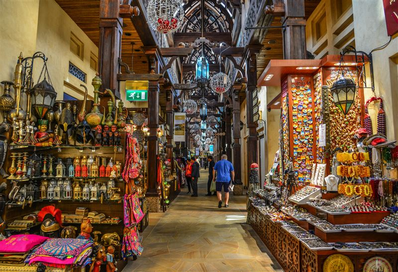 Dubai's traditional covered markets, the Souks