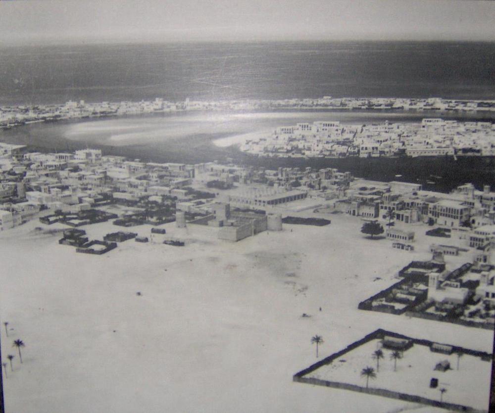 Old Dubai in 1950 (source: wikipedia)
