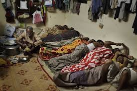 Living conditions of forced labor workers