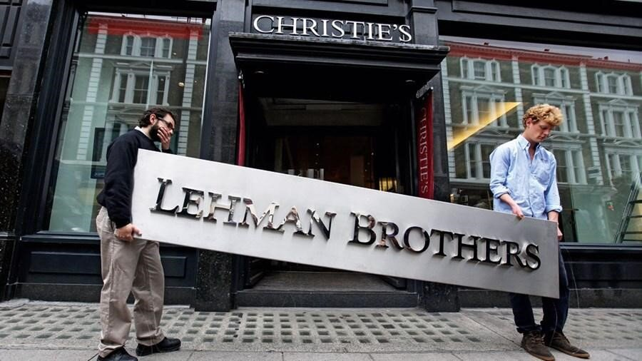 Collapse of Lehman Brothers in 2008, Source: The Guardian