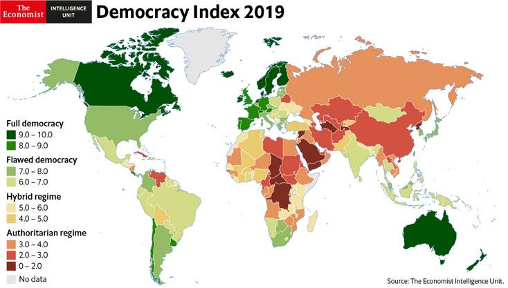 democracy index 2019 graph