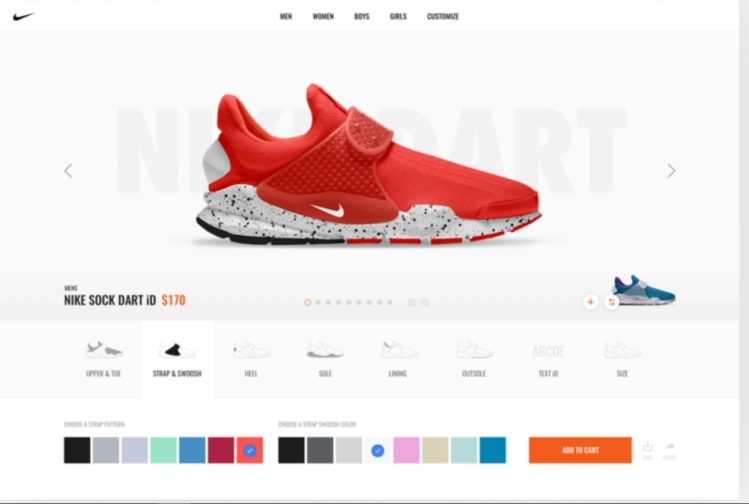 Nike is one of the most famous brands that embraces product customization