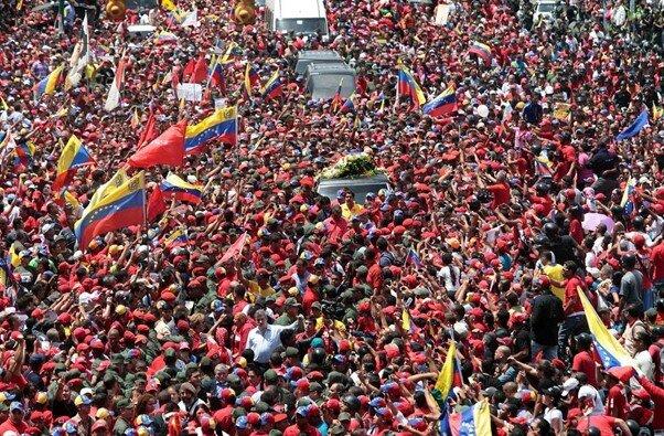 Hugo Chávez's funeral procession, 2013