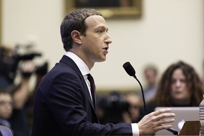 Figure 2 - Mark Zuckerberg, CEO of Facebook Inc. testifying before US Congress