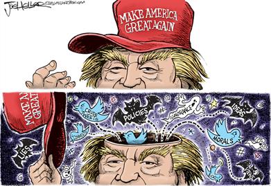 A cartoon by Joe Heller on Trump's America