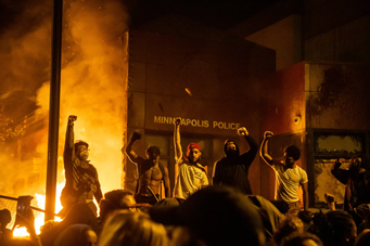 Protests in Minneapolis, following the death of George Floydby an act of police brutality